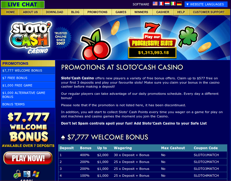 casino slots promotions