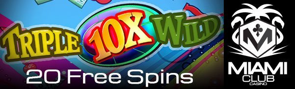 20 Free Spins – Miami Club