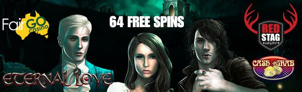 64 Free Spins Red Stag and Fair Go